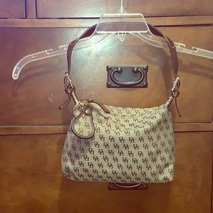 Mini Leather & Canvas Shoulder bag Pristine